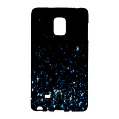 Blue Glowing Star Particle Random Motion Graphic Space Black Galaxy Note Edge by Mariart