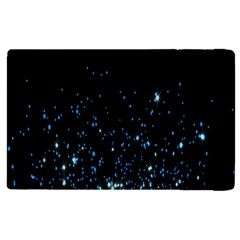 Blue Glowing Star Particle Random Motion Graphic Space Black Apple Ipad Pro 12 9   Flip Case by Mariart