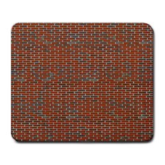 Brick Wall Brown Line Large Mousepads by Mariart