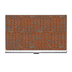 Brick Wall Brown Line Business Card Holders by Mariart