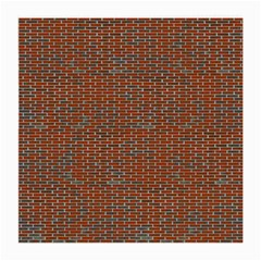 Brick Wall Brown Line Medium Glasses Cloth by Mariart