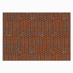 Brick Wall Brown Line Large Glasses Cloth (2 Side) by Mariart