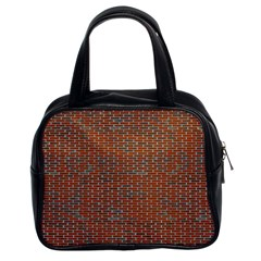 Brick Wall Brown Line Classic Handbags (2 Sides) by Mariart