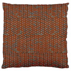 Brick Wall Brown Line Large Cushion Case (two Sides)