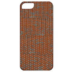 Brick Wall Brown Line Apple Iphone 5 Classic Hardshell Case by Mariart