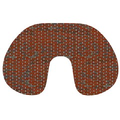 Brick Wall Brown Line Travel Neck Pillows