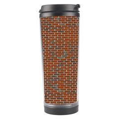 Brick Wall Brown Line Travel Tumbler by Mariart
