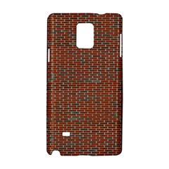 Brick Wall Brown Line Samsung Galaxy Note 4 Hardshell Case by Mariart