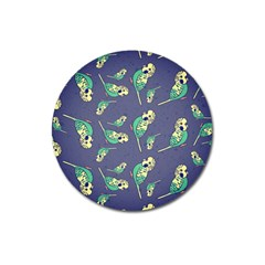 Canaries Budgie Pattern Bird Animals Cute Magnet 3  (round) by Mariart
