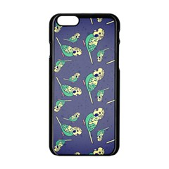 Canaries Budgie Pattern Bird Animals Cute Apple Iphone 6/6s Black Enamel Case by Mariart