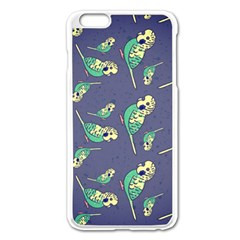 Canaries Budgie Pattern Bird Animals Cute Apple Iphone 6 Plus/6s Plus Enamel White Case