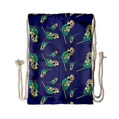 Canaries Budgie Pattern Bird Animals Cute Drawstring Bag (small) by Mariart