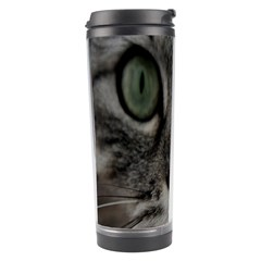 Cat Face Eyes Gray Fluffy Cute Animals Travel Tumbler by Mariart
