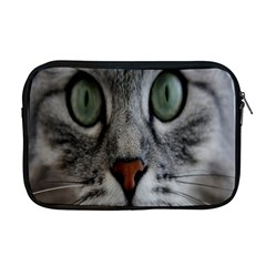 Cat Face Eyes Gray Fluffy Cute Animals Apple Macbook Pro 17  Zipper Case
