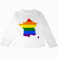Flag Map Stripes Line Colorful Kids Long Sleeve T Shirts by Mariart
