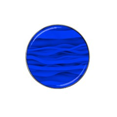Dark Blue Stripes Seamless Hat Clip Ball Marker by Mariart