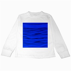 Dark Blue Stripes Seamless Kids Long Sleeve T Shirts by Mariart
