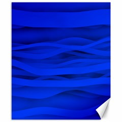 Dark Blue Stripes Seamless Canvas 8  X 10