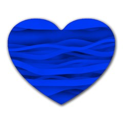 Dark Blue Stripes Seamless Heart Mousepads by Mariart