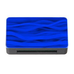 Dark Blue Stripes Seamless Memory Card Reader With Cf by Mariart