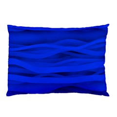 Dark Blue Stripes Seamless Pillow Case (two Sides)