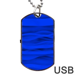 Dark Blue Stripes Seamless Dog Tag Usb Flash (two Sides) by Mariart