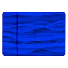 Dark Blue Stripes Seamless Samsung Galaxy Tab 8 9  P7300 Flip Case by Mariart