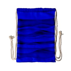 Dark Blue Stripes Seamless Drawstring Bag (small) by Mariart