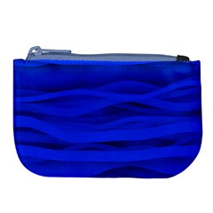 Dark Blue Stripes Seamless Large Coin Purse by Mariart