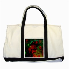 Flower Power, Wonderful Flowers, Vintage Design Two Tone Tote Bag by FantasyWorld7