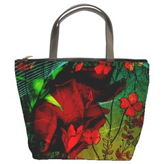 Flower Power, Wonderful Flowers, Vintage Design Bucket Bags