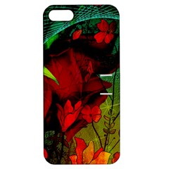 Flower Power, Wonderful Flowers, Vintage Design Apple Iphone 5 Hardshell Case With Stand by FantasyWorld7