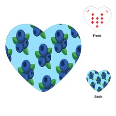 Fruit Nordic Grapes Green Blue Playing Cards (heart)  by Mariart