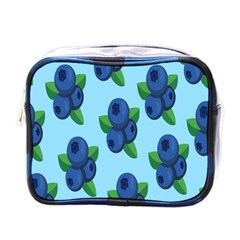 Fruit Nordic Grapes Green Blue Mini Toiletries Bags by Mariart