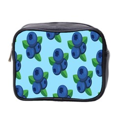 Fruit Nordic Grapes Green Blue Mini Toiletries Bag 2 Side by Mariart