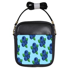 Fruit Nordic Grapes Green Blue Girls Sling Bags by Mariart