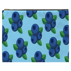 Fruit Nordic Grapes Green Blue Cosmetic Bag (xxxl)  by Mariart