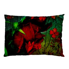 Flower Power, Wonderful Flowers, Vintage Design Pillow Case (two Sides) by FantasyWorld7