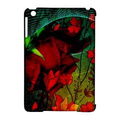 Flower Power, Wonderful Flowers, Vintage Design Apple Ipad Mini Hardshell Case (compatible With Smart Cover) by FantasyWorld7