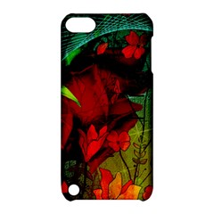 Flower Power, Wonderful Flowers, Vintage Design Apple Ipod Touch 5 Hardshell Case With Stand by FantasyWorld7