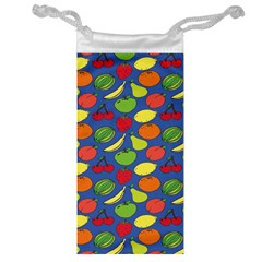 Fruit Melon Cherry Apple Strawberry Banana Apple Jewelry Bag by Mariart
