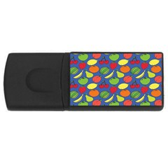 Fruit Melon Cherry Apple Strawberry Banana Apple Rectangular Usb Flash Drive by Mariart