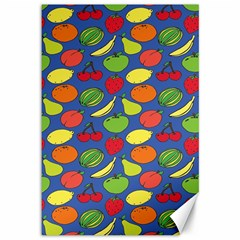 Fruit Melon Cherry Apple Strawberry Banana Apple Canvas 12  X 18   by Mariart