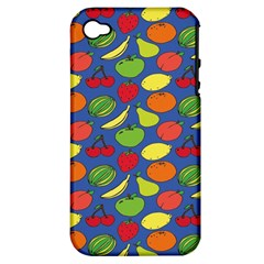 Fruit Melon Cherry Apple Strawberry Banana Apple Apple Iphone 4/4s Hardshell Case (pc+silicone) by Mariart