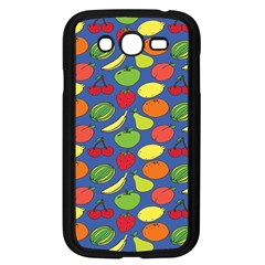 Fruit Melon Cherry Apple Strawberry Banana Apple Samsung Galaxy Grand Duos I9082 Case (black) by Mariart