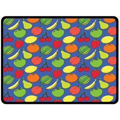 Fruit Melon Cherry Apple Strawberry Banana Apple Double Sided Fleece Blanket (large)  by Mariart