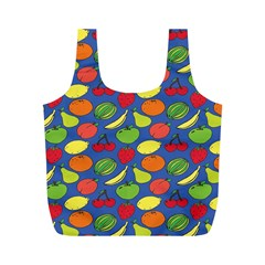 Fruit Melon Cherry Apple Strawberry Banana Apple Full Print Recycle Bags (m)  by Mariart