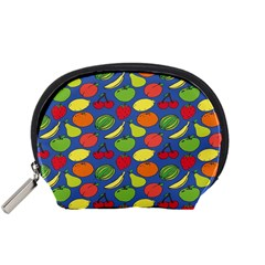 Fruit Melon Cherry Apple Strawberry Banana Apple Accessory Pouches (small)  by Mariart