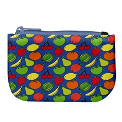 Fruit Melon Cherry Apple Strawberry Banana Apple Large Coin Purse by Mariart