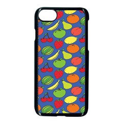 Fruit Melon Cherry Apple Strawberry Banana Apple Apple Iphone 7 Seamless Case (black) by Mariart